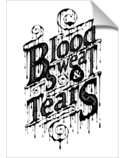 Blood, Sweat, & Tears - Artwork