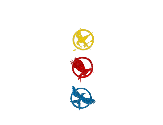 Mysoti Alliecatisallama The Hunger Games Symbols Colour Tees