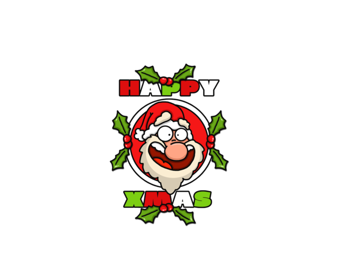 Happy Santa Cartoon Tee