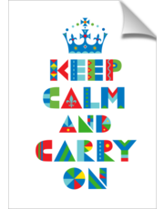 Keep Calm Carry On - print