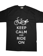 Keep Calm Ride On - cruiser t  white fonts