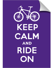 Keep Calm Ride On - bike - violet