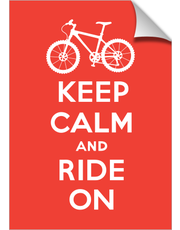Keep Calm Ride On - bike - red