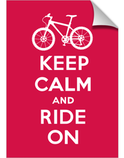 Keep Calm Ride On - bike - dark red