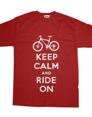 Keep Calm Ride On - mountain bike - red