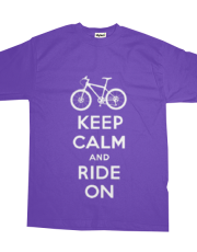Keep Calm Ride On - mountain bike - purple
