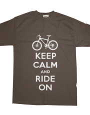 Keep Calm Ride On - mountain bike - brown
