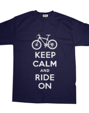 Keep Calm Ride On - mountain bike - navy