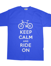 Keep Calm Ride On - mountain bike - cobalt