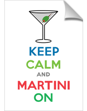 Keep Calm and Martini On - print