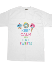Keep Calm and Eat Sweets - t shirt