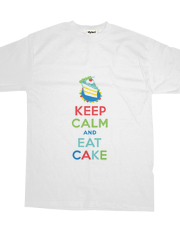 Keep Calm and Eat Cake - t shirt