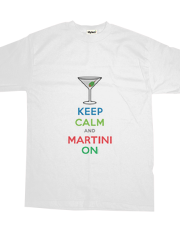 Keep Calm and Martini On - t shirt
