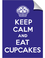 Keep Calm and Eat cupcakes violet print