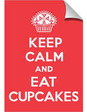 Keep Calm and Eat Cupcakes tomato red print