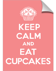 Keep Calm and Eat Cupcakes Coral print25