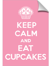Keep Calm and Eat Cupcakes pink print