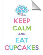 Keep Calm and Eat Cupcakes pastels print