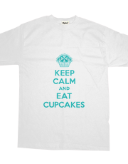 Keep Calm and Eat Cupcakes turquoise t