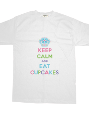 Keep Calm and Eat Cupcakes pastel t
