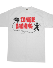 Geocaching Zombie seeks Brain