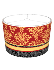 Ruby Red Gilded Damask Elegant
