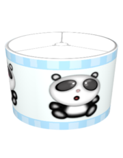 Panda Chasing Butterfly Blue Shade