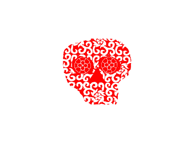 Primitive Skull Red