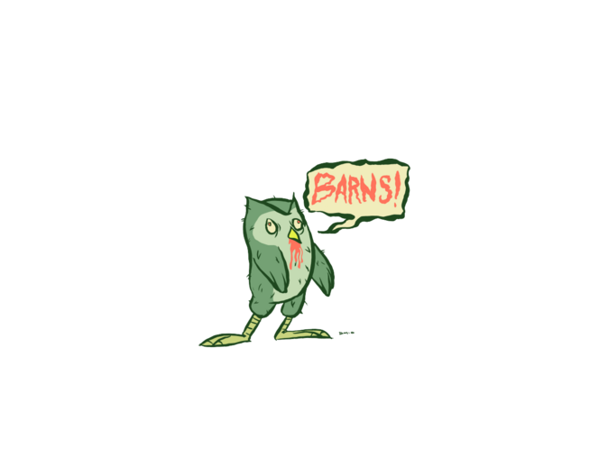 Zombie Owl Craves Barns