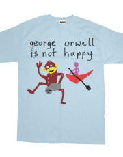 george orwell is not happy