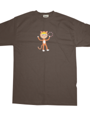Orange Cat Boy with Tambourine T-shirt