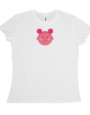 Magenta Girl T-shirt (white)