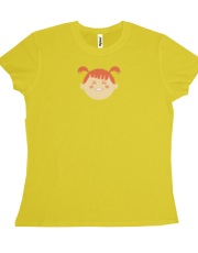 Orange Girl T-shirt (yellow)