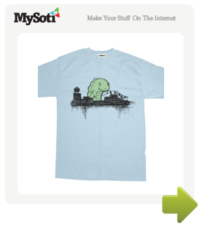 Zilla Meets Boy tee by bryanbrinkman. Available from MySoti.com.