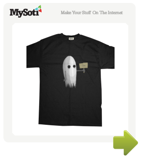 Ghost tee by bryanbrinkman. Available from MySoti.com.