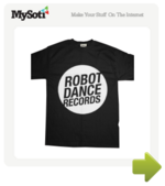 Robot Dance Records Circle Logo tee by bryanbryan. Available from MySoti.com.