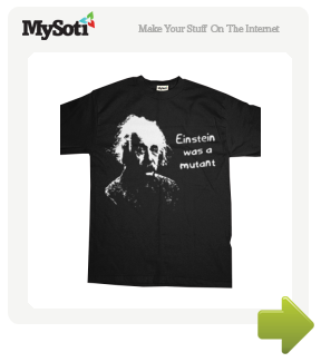 Einstein .. tee by CathieT. Available from MySoti.com.