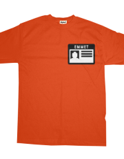 Emmet nametag - Lego the movie