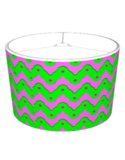 Pink and green chevron and dots