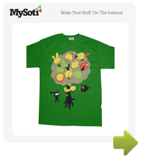 The Tree's Ninja tee by coffeebeanking. Available from MySoti.com.