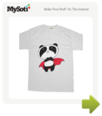 Panda The Rock Superstar tee by coffeebeanking. Available from MySoti.com.