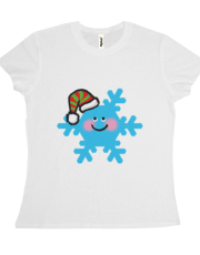 cute winter snowflake cartoon