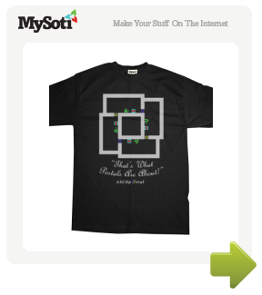 ASCIIpOrtal Mens tee by Cymon. $17.99