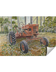Old Farm Antique Tractor