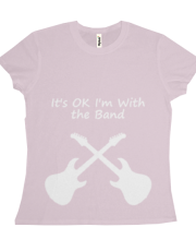 I'm with the band (white)