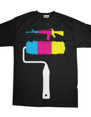 CYM assault rifle - white handle - funny graphic t-shirt