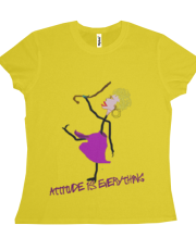 Attitude is Everything-Woman Dancing with Cane
