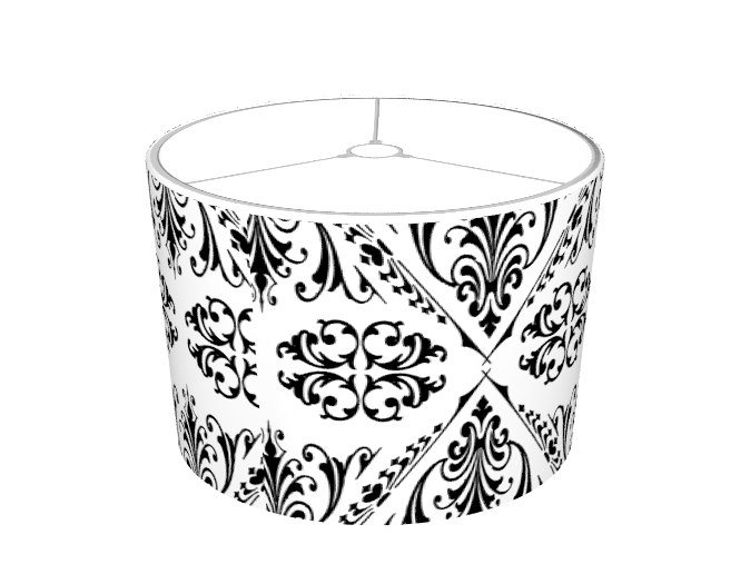 MySoti - DPeaGreenDesigns - 'Black & White Damask #22 Lampshade ...