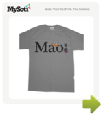 Mao. tee by emacartoon. Available from MySoti.com.