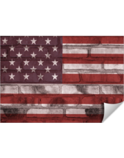 American Flag Brick Wall